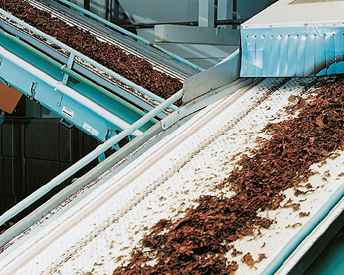 CONVEYOR BELTS FOR TOBACCO